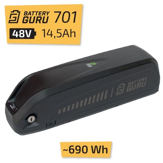 Bateria 48V 14,5 Ah Battery Guru BG701 Ładowarka 2A