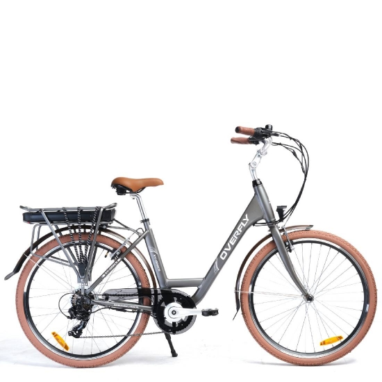 Rower Elektryczny Miejski Grace Szary 36 V 10,4 Ah
